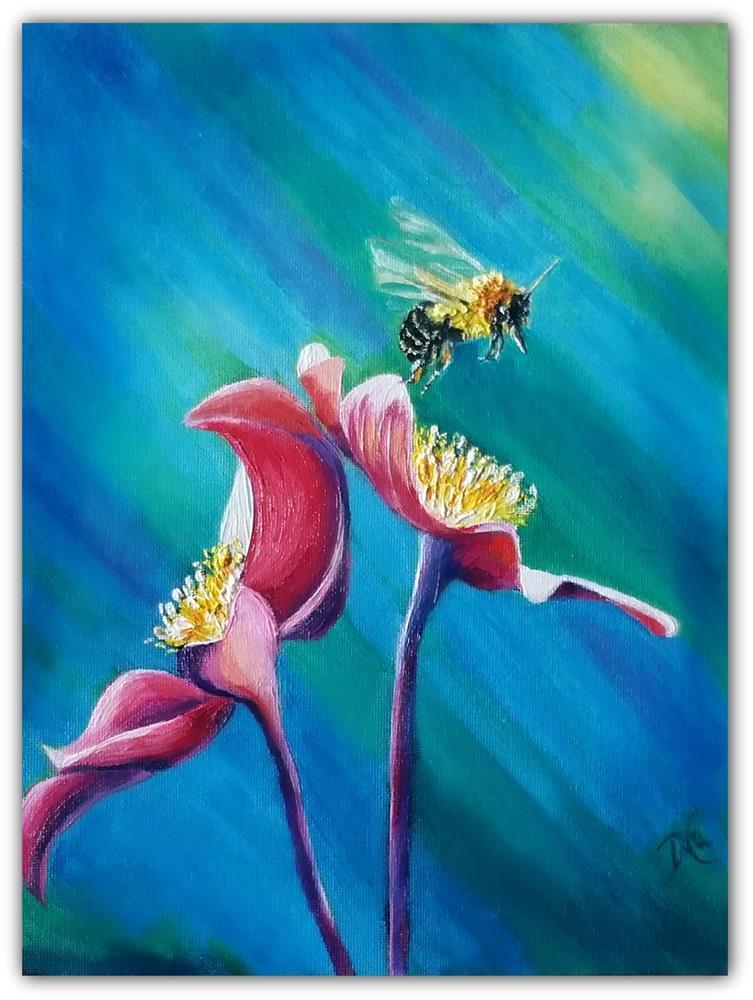 """Bee There"" original fine art by Dana C"