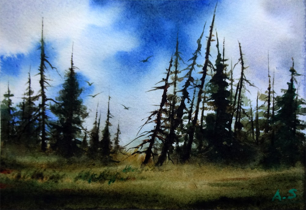 """Quiet Days"" original fine art by Arena Shawn"