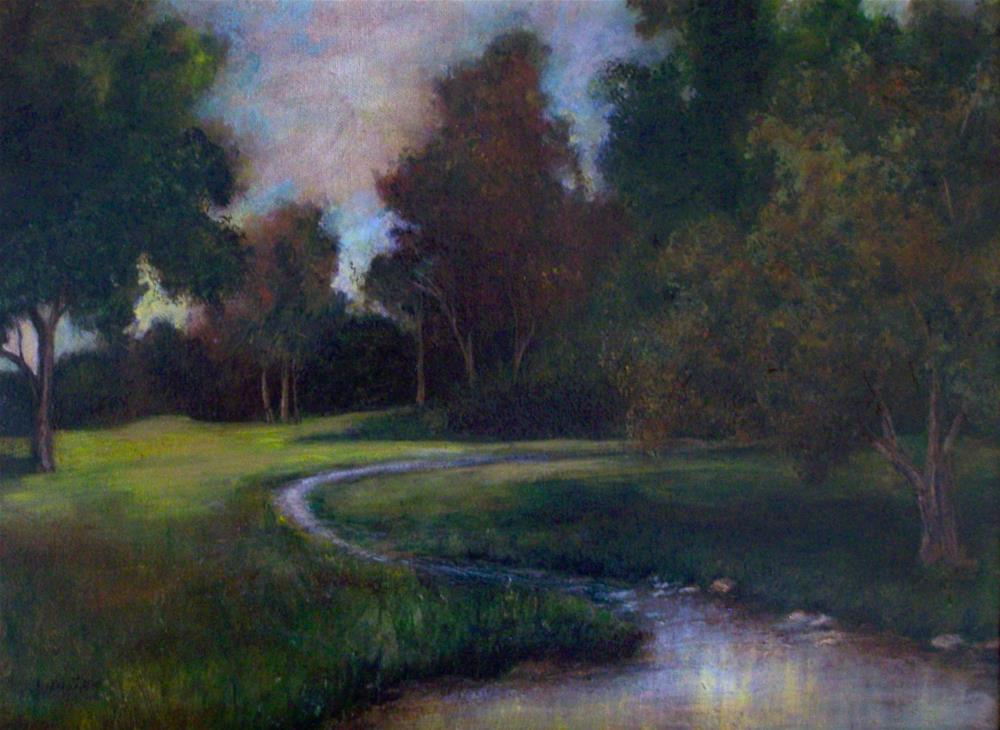 """Autumn Evening"" original fine art by Joan Matero"