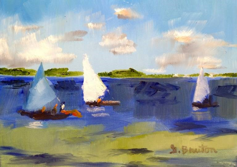 """Sails"" original fine art by Gary Bruton"