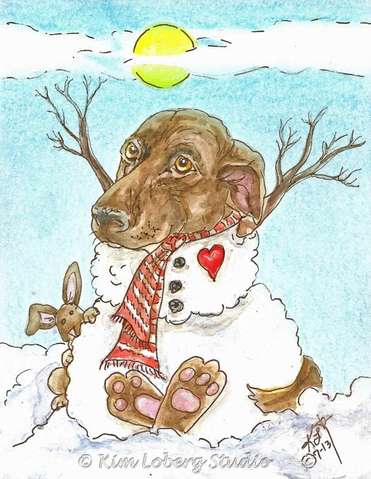 """Four Seasons of Amy - Winter"" original fine art by Kim Loberg"