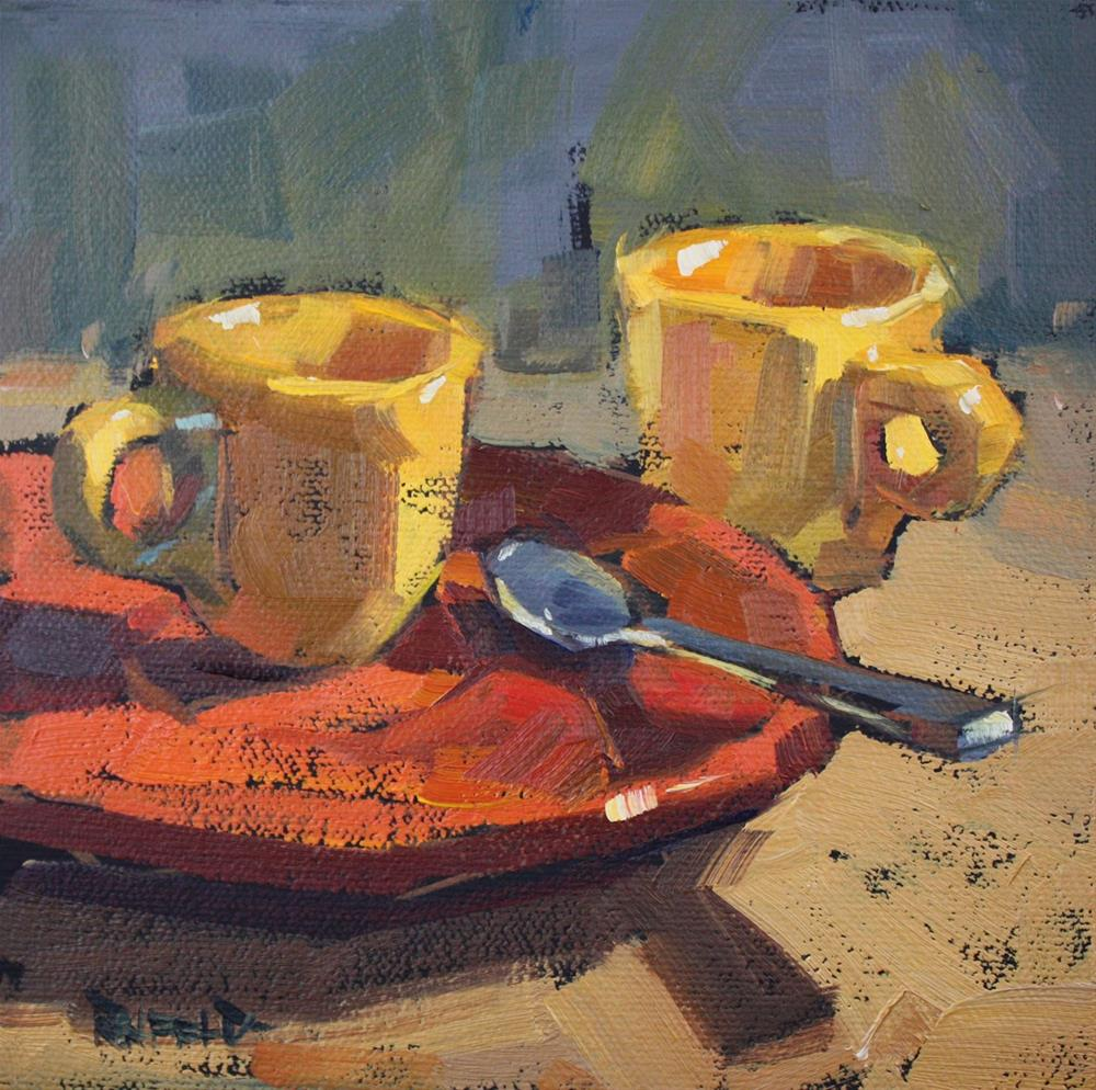 """Demitasse Espresso"" original fine art by Cathleen Rehfeld"