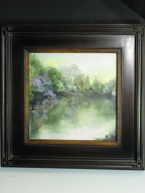 """12 x 12 in custom frame. Where Angels Dwell"" original fine art by Brenda Kollman"