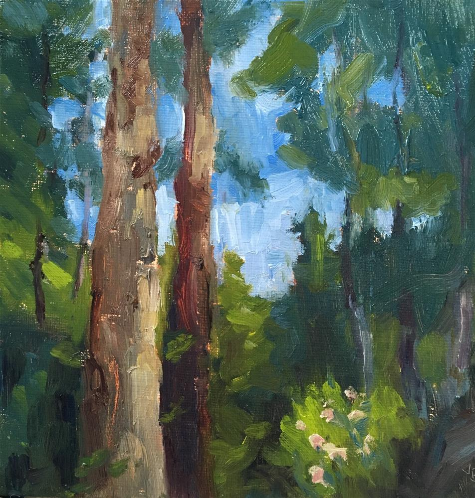 """Forest for the Trees"" original fine art by Victoria  Biedron"