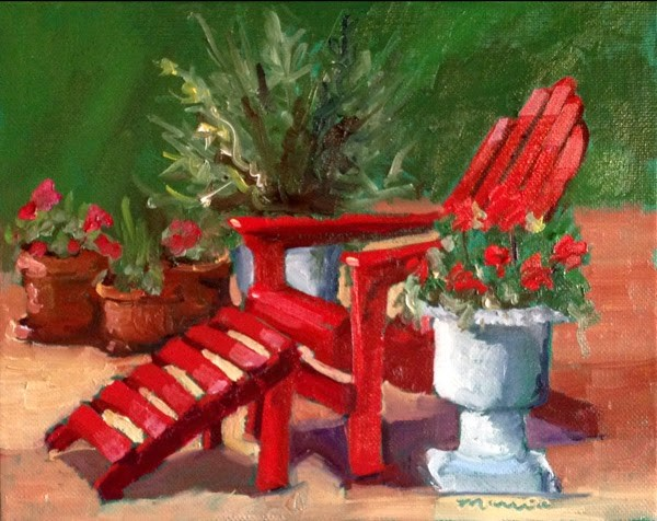 """My Favorite Chair"" original fine art by Marcia Hodges"