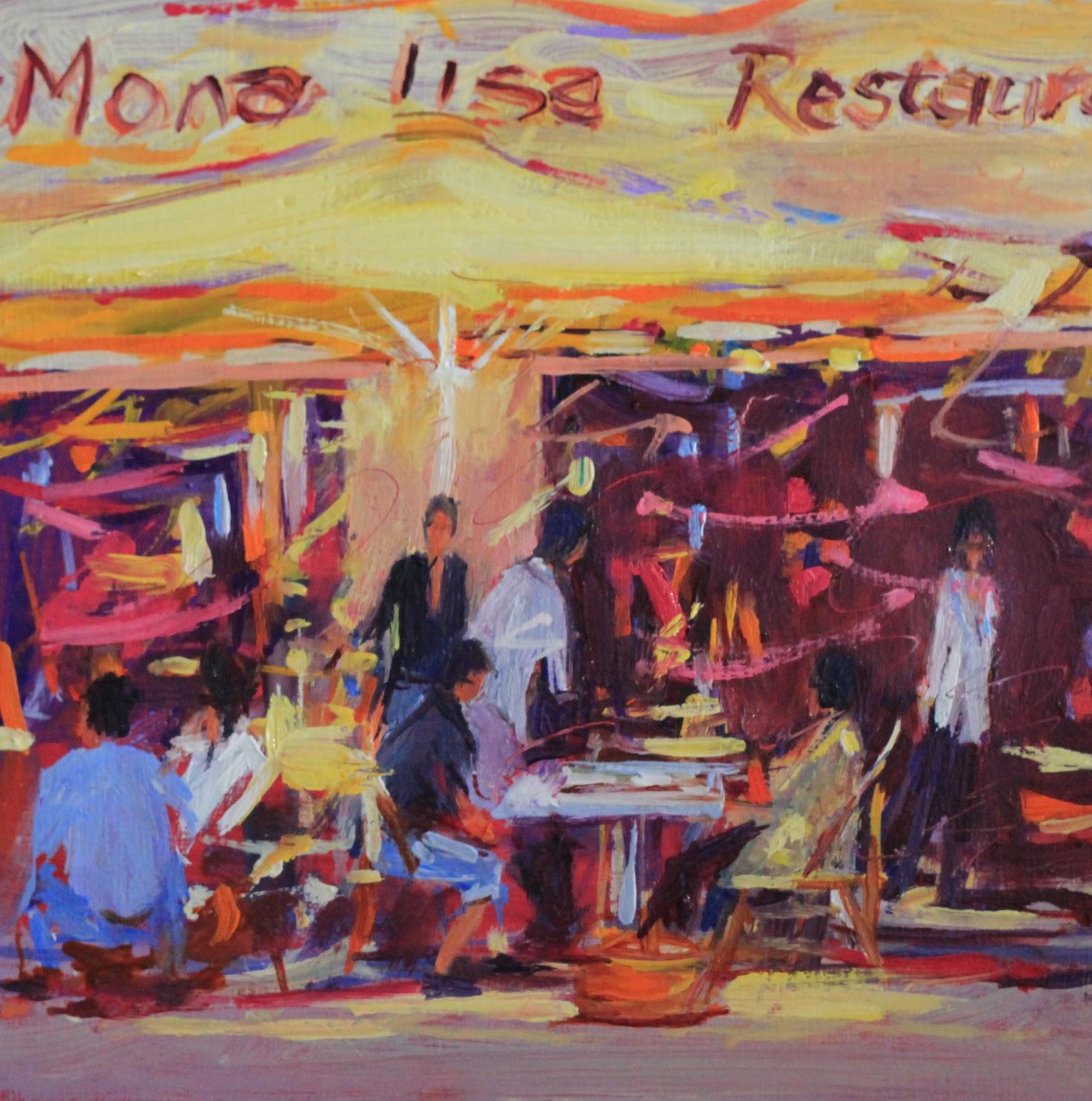 """The Mona Lisa"" original fine art by Ken Devine"