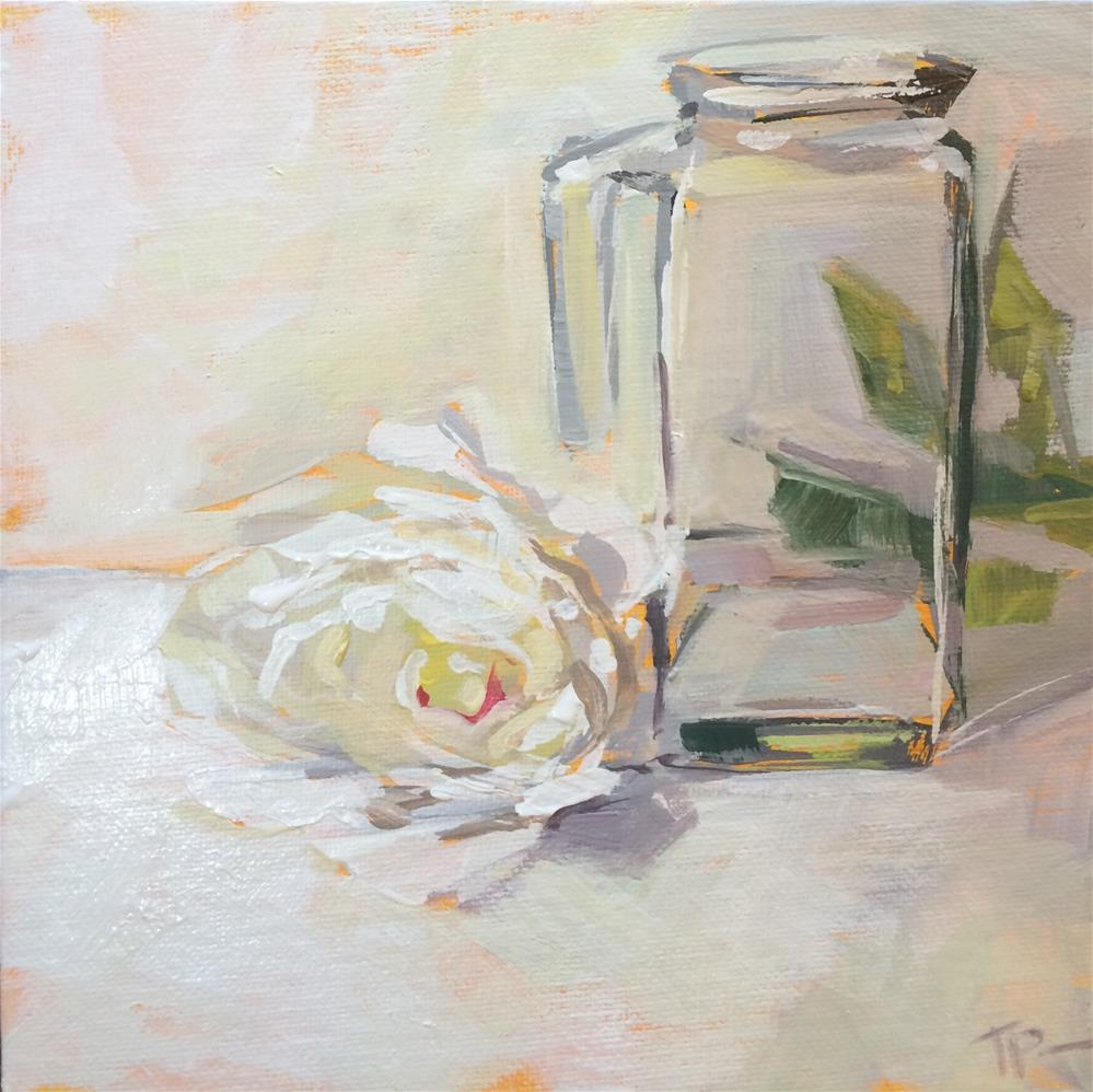 """White Study"" original fine art by Teddi Parker"