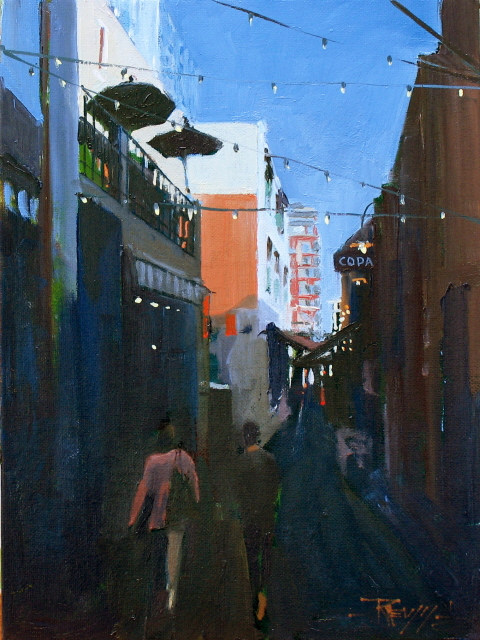 """The Copa   Seattle city scenes"" original fine art by Robin Weiss"