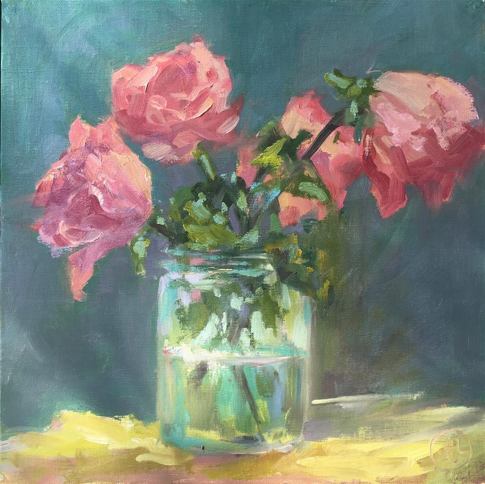 """I'm blushing"" original fine art by Dottie  T  Leatherwood"