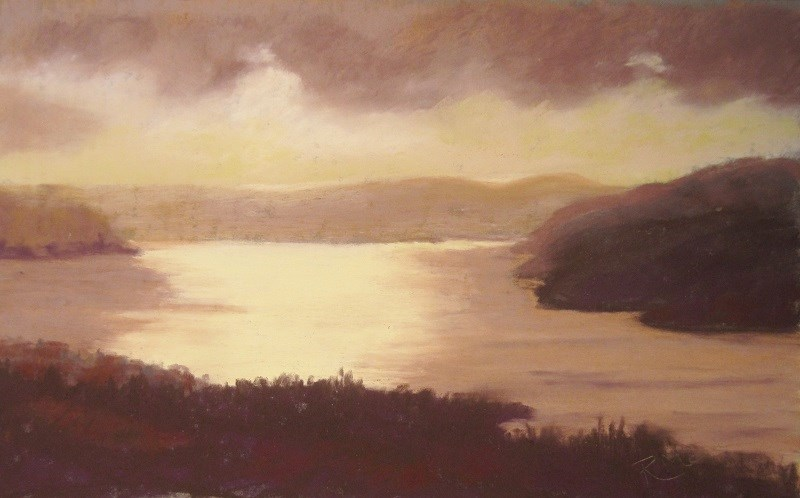 """After the rain, Windermere"" original fine art by Ruth Mann"