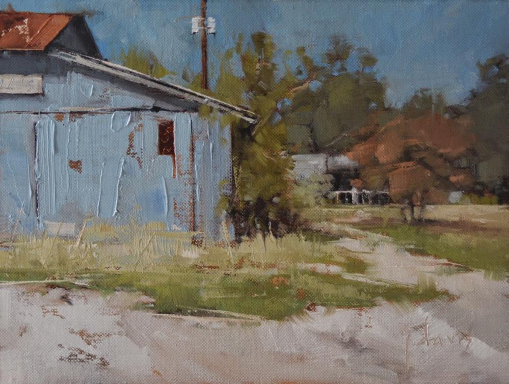 """The Warehouse"" original fine art by Julie Davis"