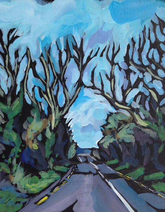 """The Irish Road"" original fine art by Kat Corrigan"