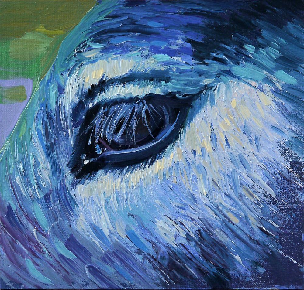 """gray eye"" original fine art by Beata Musial-Tomaszewska"