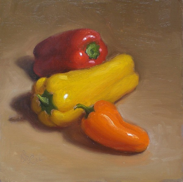 """Sweet Little Peppers"" original fine art by Debra Becks Cooper"