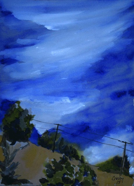 """About The Sky"" original fine art by Donna Crosby"