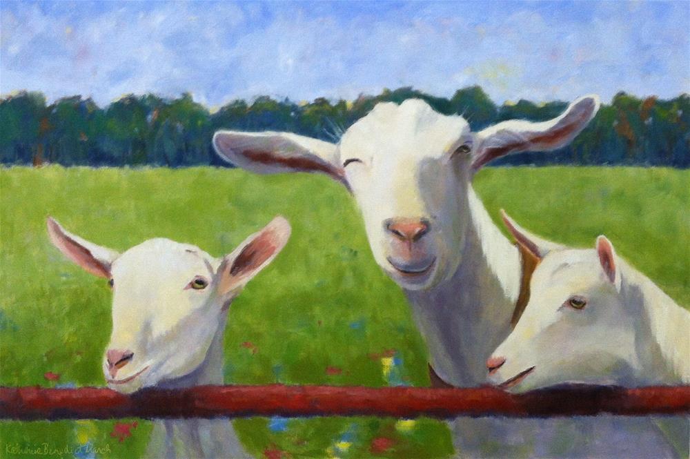 """Winking Goat"" original fine art by Katharine March"