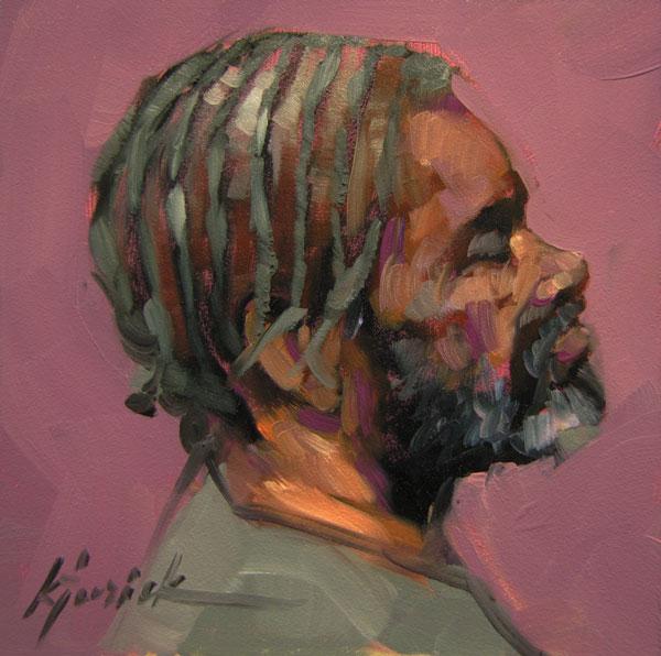 """100 Faces, No. 94"" original fine art by Karin Jurick"