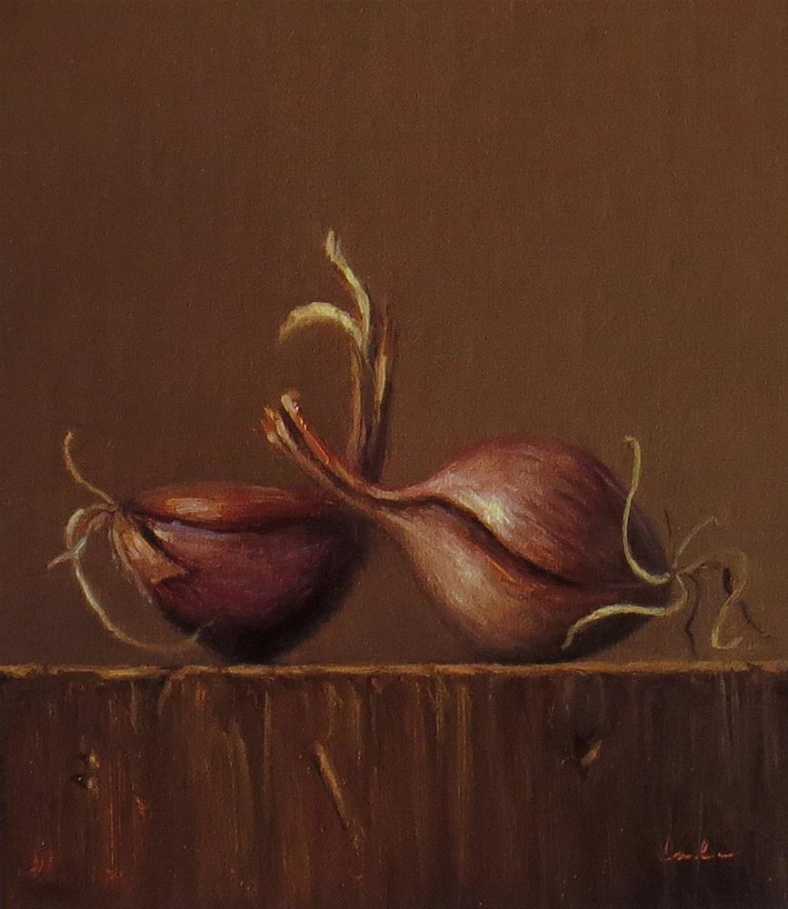 """Still Life with Shallots"" original fine art by Darla McDowell"