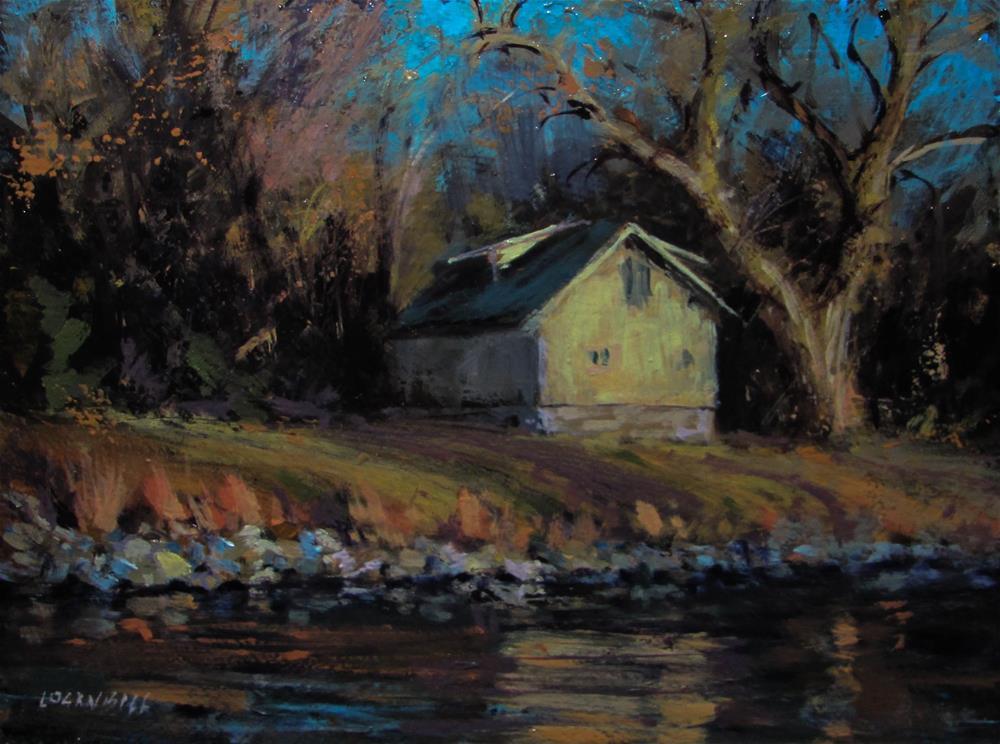 """Autumn Reflection"" original fine art by Joseph Loganbill"
