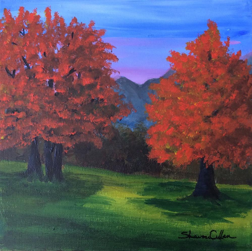 """Dusk in Autumn"" original fine art by Sharon Cullen"