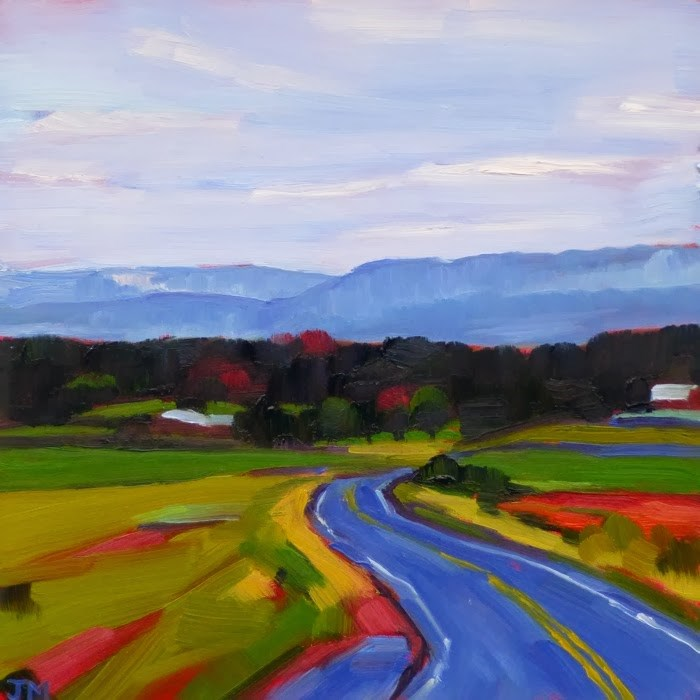 """Road to Minnewaska No. 2"" original fine art by Jessica Miller"