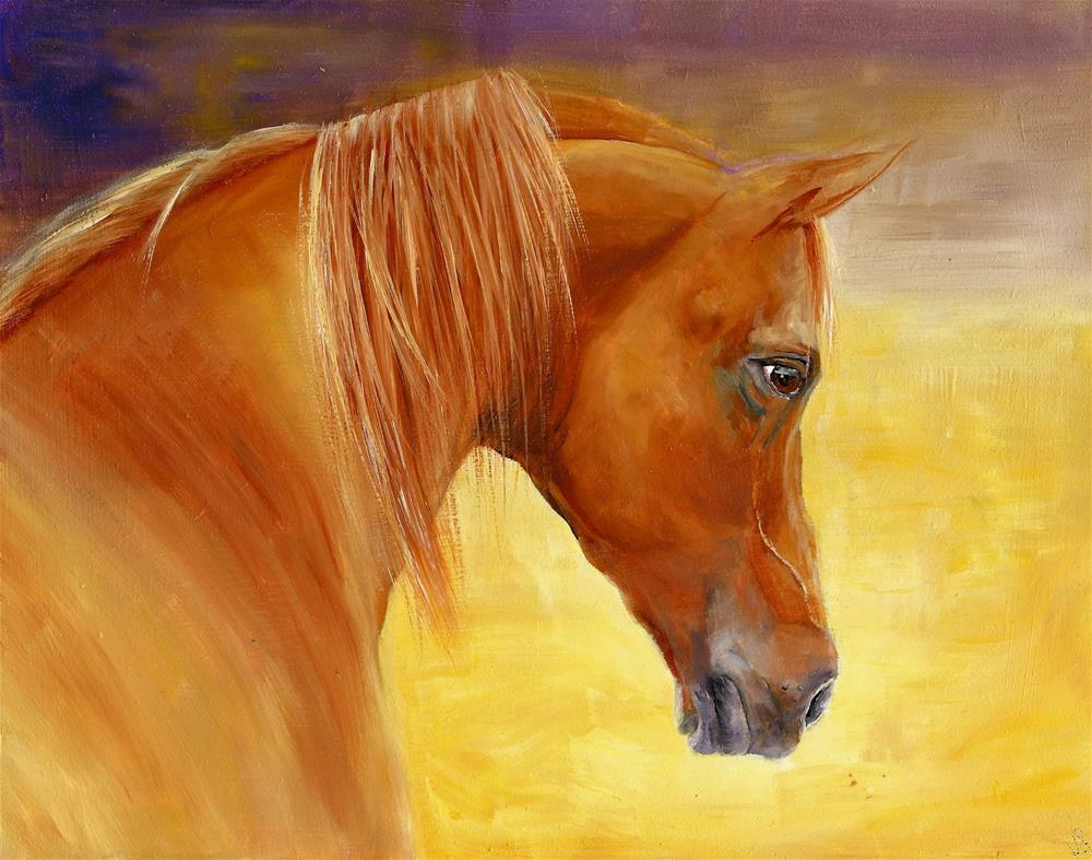 """Dawn rider"" original fine art by Karen Robinson"