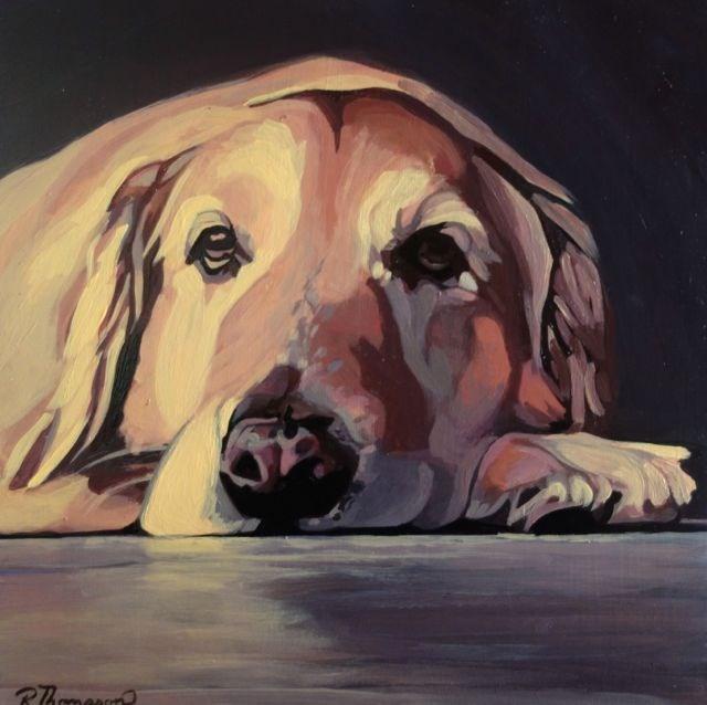 """Derby - Reserved"" original fine art by Rachel Thompson"