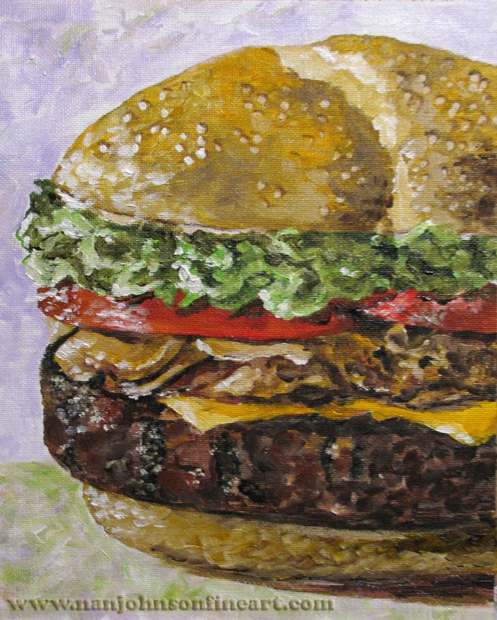 """Delicious"" original fine art by Nan Johnson"
