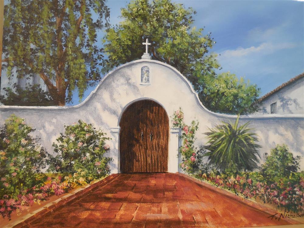 """""""Mission del Alcala"""" original fine art by Terri Nicholson"""