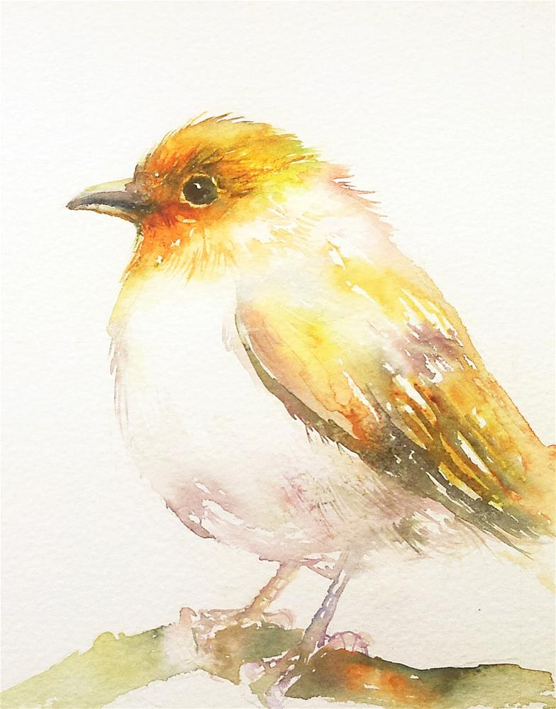 """The Yellow Bird"" original fine art by Arti Chauhan"