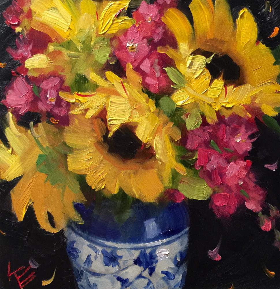 """For the Love of Sunshine"" original fine art by Krista Eaton"