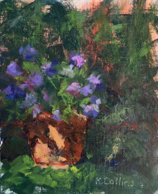 """Summer Flowers at the Mansion"" original fine art by Kathy Collins"