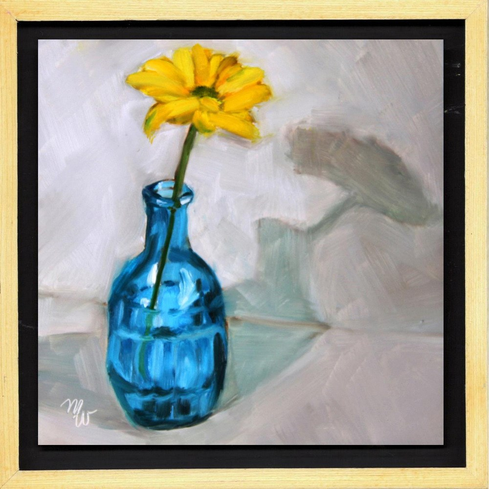 """""""Party of One (Framed and Wired)"""" original fine art by Merrill Weber"""