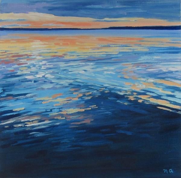 """Cross Hatch Reflection"" original fine art by Nicki Ault"