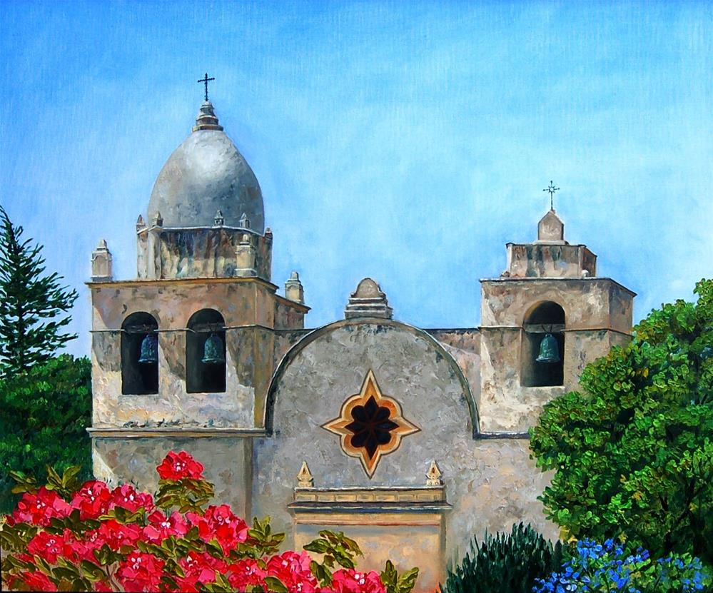 """Carmel Mission"" original fine art by Laura Wiens"