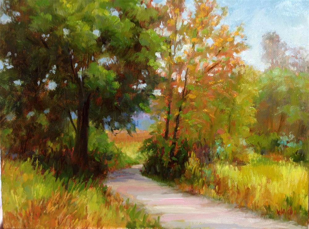 """Quiet Path"" original fine art by Nancy Wahl"
