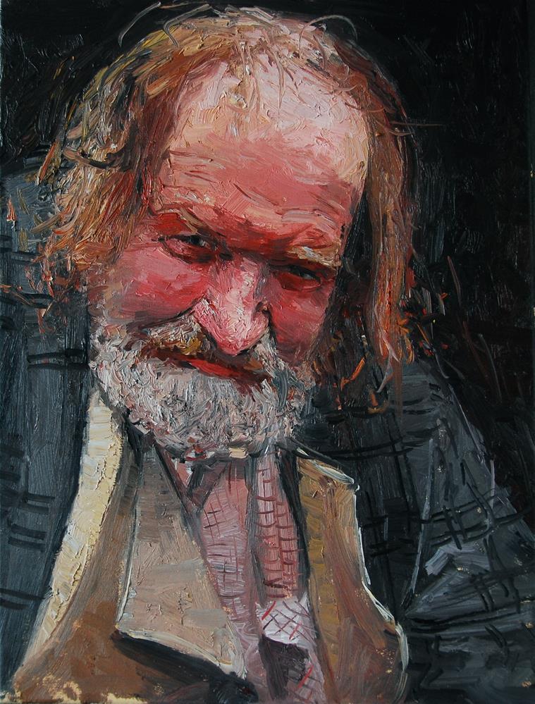 """Thde Face of Homelessness, Charing Cross Rd II"" original fine art by Adebanji Alade"