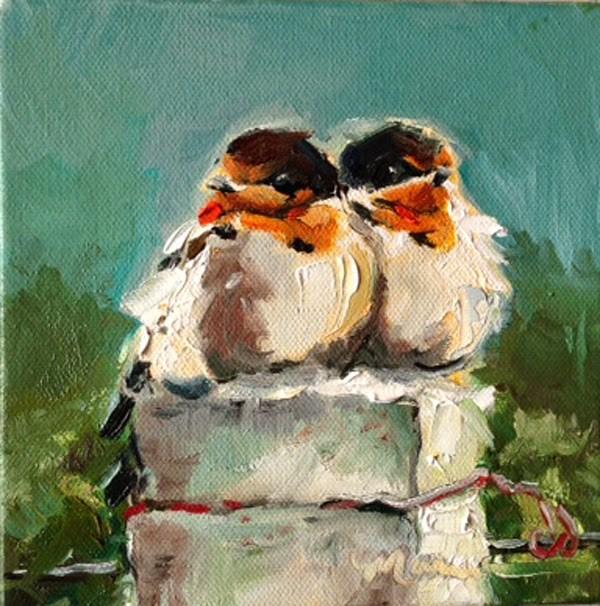 """Best Friends"" original fine art by Marcia Hodges"