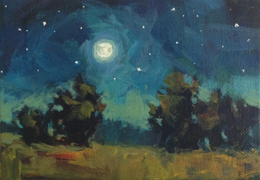"""Magic Moon"" original fine art by Shannon Bauer"