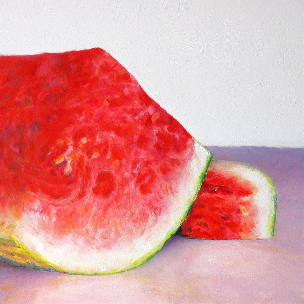 """Watermelon Section"" original fine art by Linda Demers"