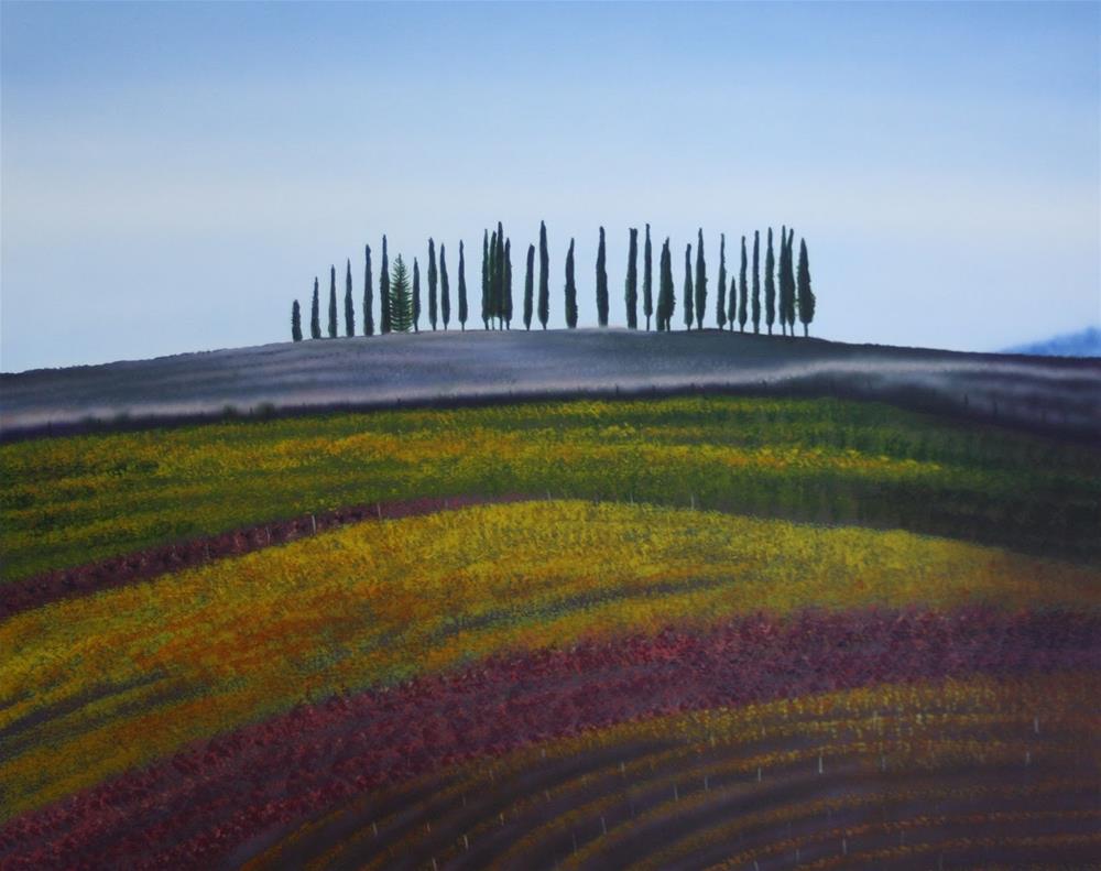 """Italian Landsape"" original fine art by Fred Schollmeyer"