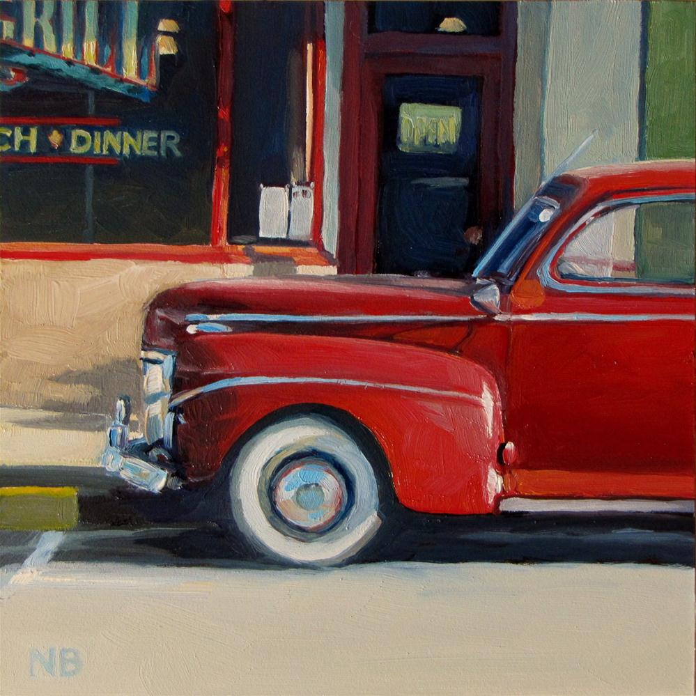 """Red Ford at Colvin's"" original fine art by Nora Bergman"