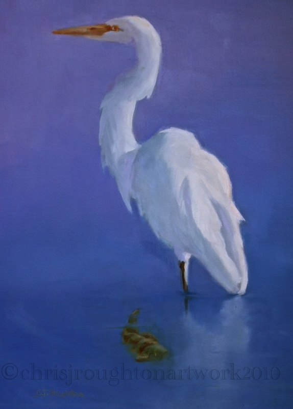 """Perched"" original fine art by C J Roughton"