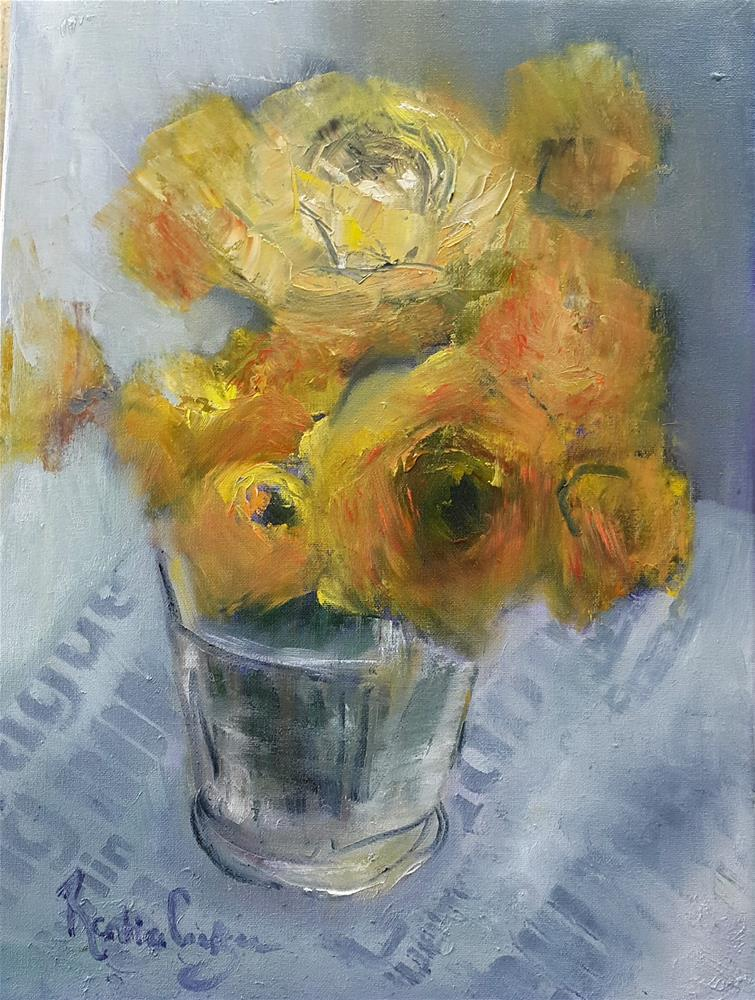 """Sunday flowers"" original fine art by Rentia Coetzee"
