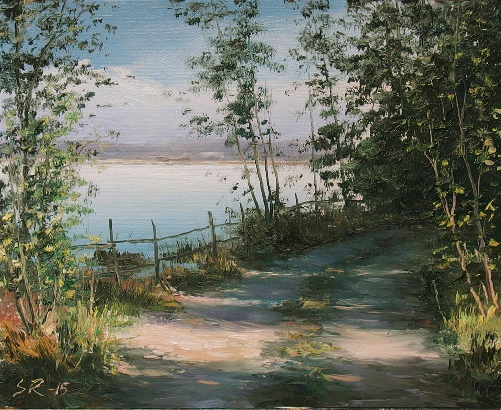 """Along the shoreline"" original fine art by Stig Rosenlund"