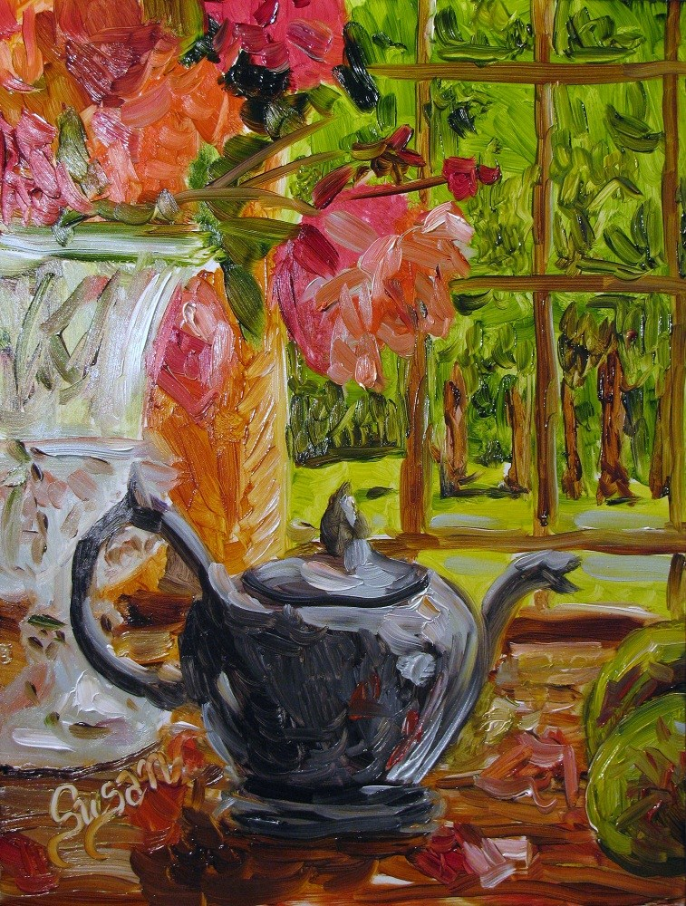 """Tea Time"" original fine art by Susan Elizabeth Jones"