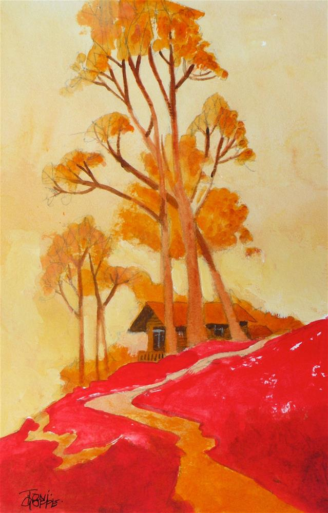 """Summerhouse Path"" original fine art by Toni Goffe"