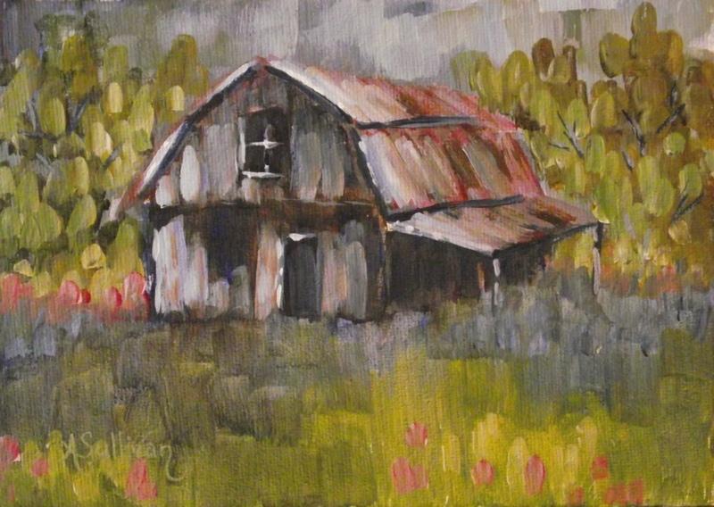 """Barn Squared"" original fine art by Angela Sullivan"