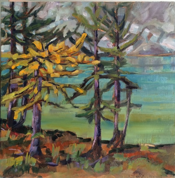 """Turning Larch"" original fine art by Marcela Strasdas"