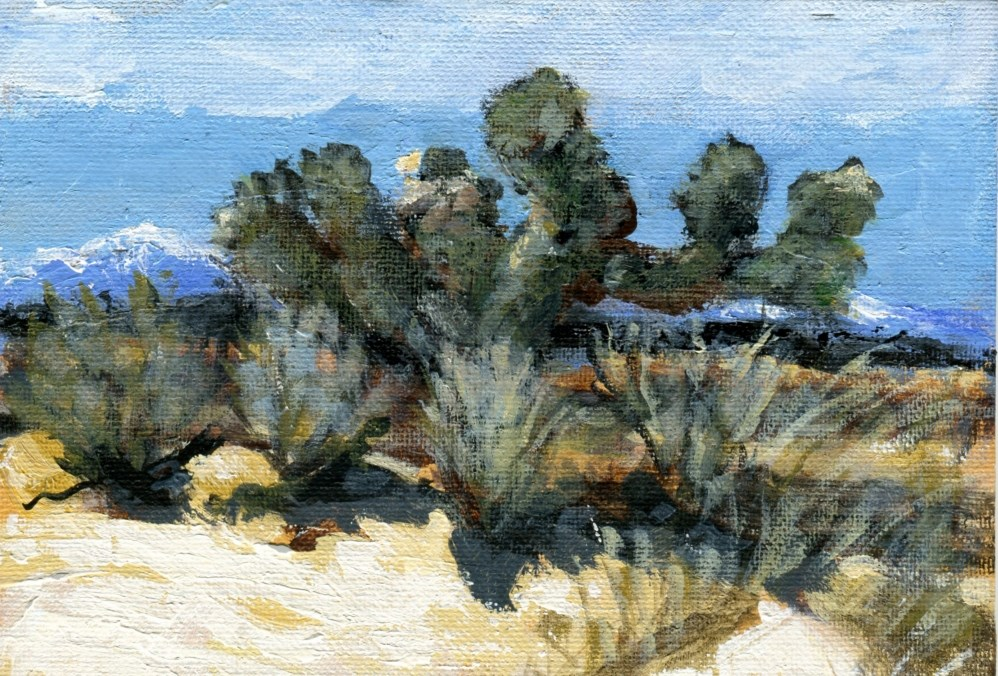 """Desert Autumn"" original fine art by Stanley Epperson"